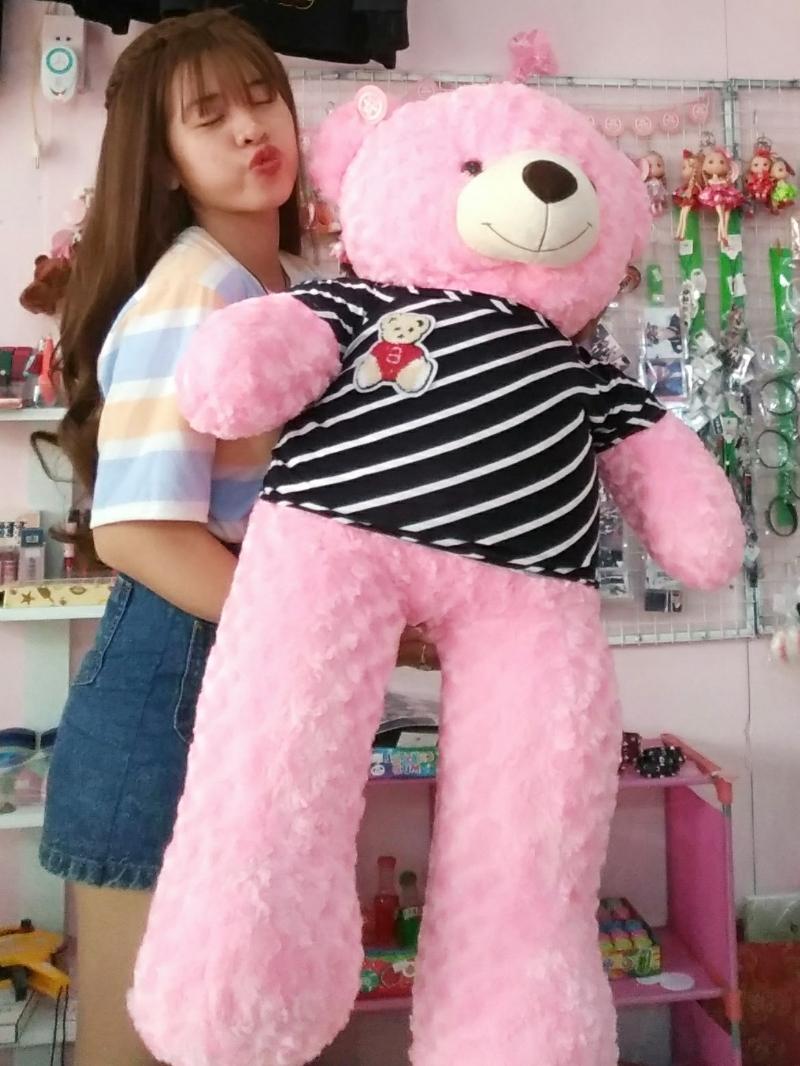 Gấu Bông Teddy Màu Hồng 1m2 1