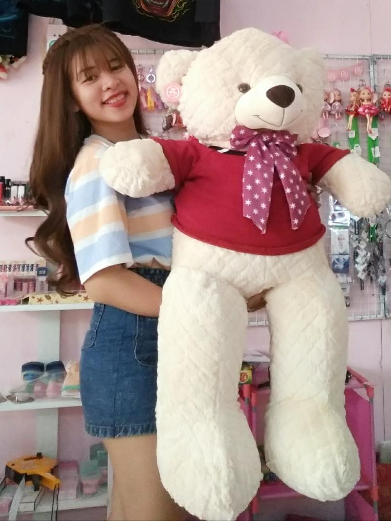 Gấu Bông Teddy Màu Kem 1m2 2