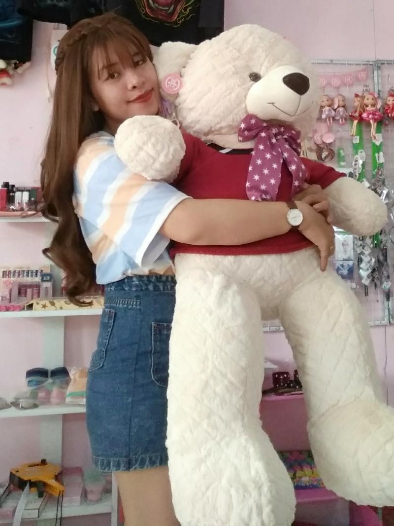 Gấu Bông Teddy Màu Kem 1m2 3