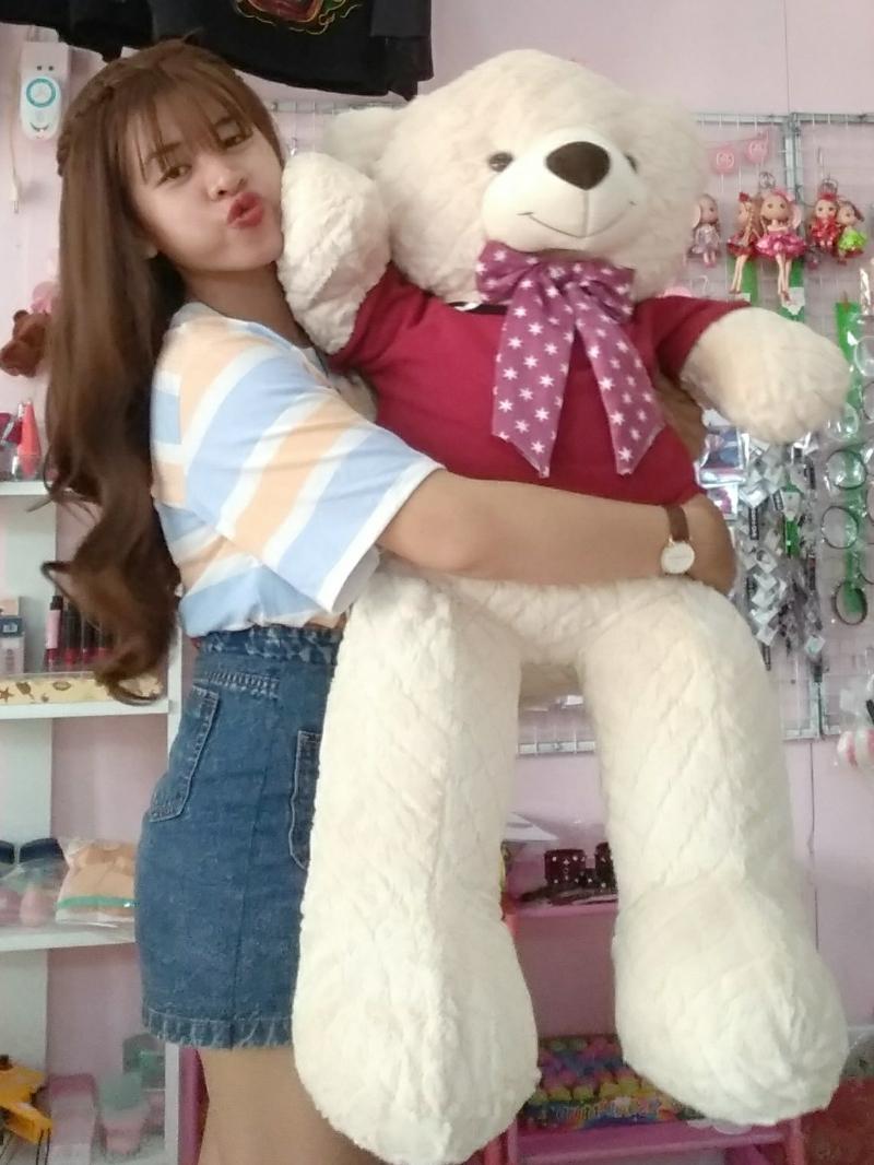 Gấu Bông Teddy Màu Kem 1m2 4