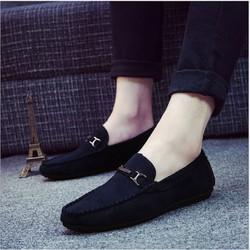 [Free Ship] Giày lười nam Da lộn Kiểu Hàn Quốc - Giá tận gốc