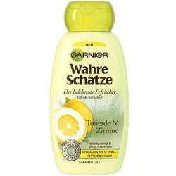 Dầu gội Garnier Wahre Schatze Tonerde Zitrone dành cho tóc nhờn