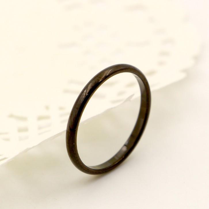 Nhẫn Ti Tan Nữ Bản Nhỏ Màu Đen TT 0920 1