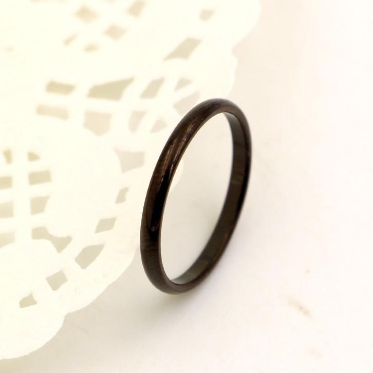 Nhẫn Ti Tan Nữ Bản Nhỏ Màu Đen TT 0920 3