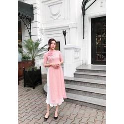 AD51729_ Áo dài kèm chân váy đón tết siêu xinh _ Hàng nhập