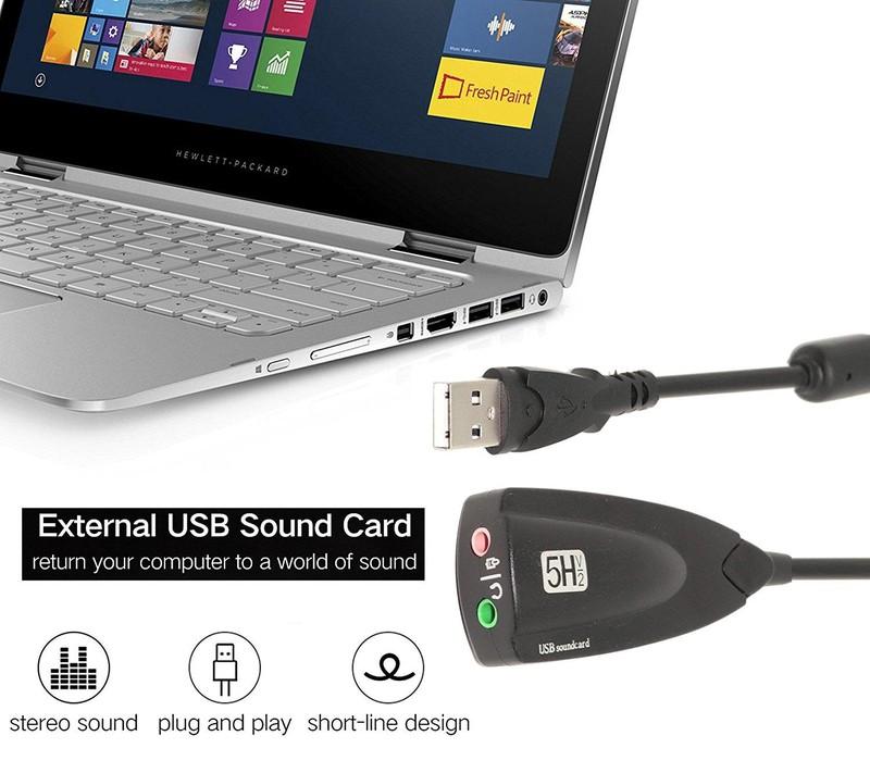 USB Sound card H5V2 âm thanh 3D 7.1 Dây 1