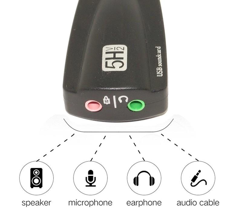 USB Sound card H5V2 âm thanh 3D 7.1 Dây 2