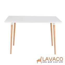 Bàn ăn, bàn cafe 4 chân gỗ ở tphcm- Lavaco