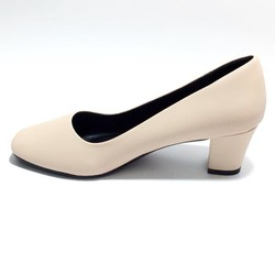 Giày Bít Công Sở Nữ Gót Cao 5cm Simili Mờ Mũi Vuông