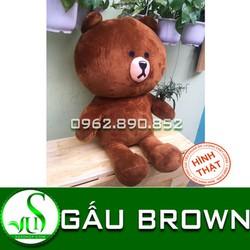 Gấu bông gấu Brown 1m4 nhồi bông siêu mịn