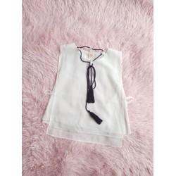 Áo trắng kiểu cho bé gái