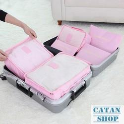 Combo 6 Túi Đựng Đồ Du Lịch xếp đồ gọn gàng trong vali
