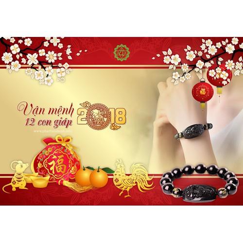 Vòng tay Phật Bản Mệnh Cao Cấp 12 Con Giáp có kèm kiểm định