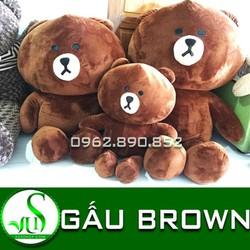 Gấu bông gấu Brown 1m2 nhồi bông siêu mịn