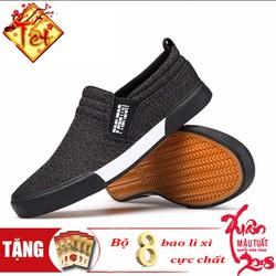 Khuyến Mãi Tết-Giày Lười Nam Phong Cách-Kèm Bộ 8 Bao Lì Xì