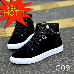 Giày nam cao cổ thời trang G09