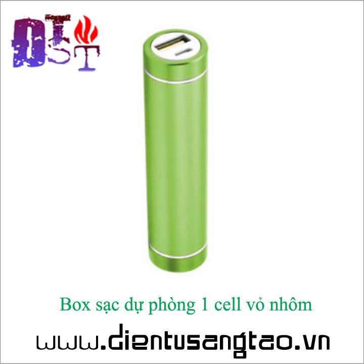 Box sạc dự phòng 1 cell vỏ nhôm - Combo 2 chiếc 9