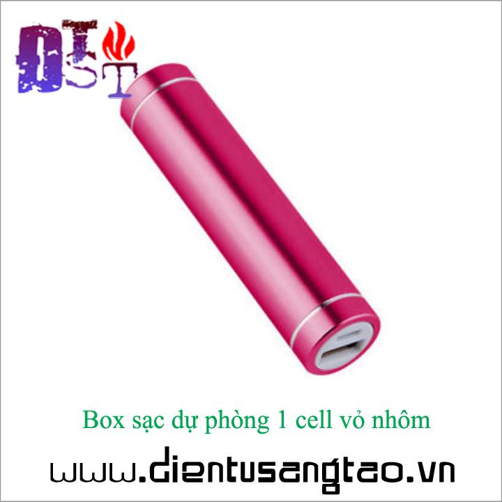 Box sạc dự phòng 1 cell vỏ nhôm - Combo 2 chiếc 7