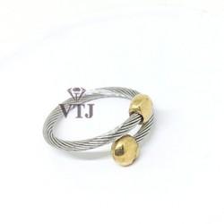Nhẫn Titan Xoắn Bi