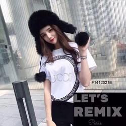 Áo thun nữ mẫu mới 2018 2 màu trắng đen