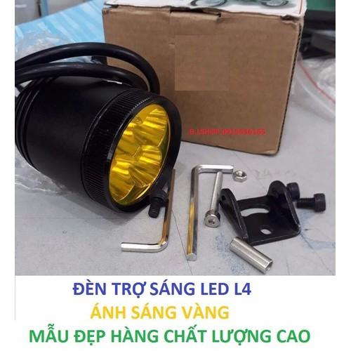 Đèn trợ sáng xe máy ĐÈN TRỢ SÁNG LED L4 ÁNH SÁNG VÀNG