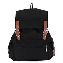 Balo vải đi học thời trang Unisex màu đen – 445