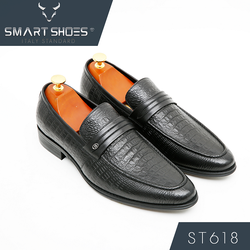 Giày lười Loafer da Ý cao cấp Smart Shoes ST618