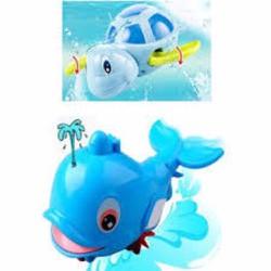 Bộ đồ chơi bồn tắm 1 Cá heo phun nước và 1 Rùa biết bơi