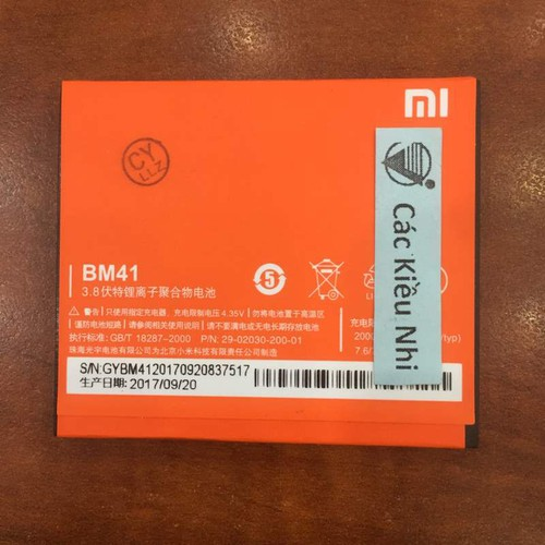 Pin Xiaomi Redmi Note 1S - BM41 - 5572027 , 9389106 , 15_9389106 , 72000 , Pin-Xiaomi-Redmi-Note-1S-BM41-15_9389106 , sendo.vn , Pin Xiaomi Redmi Note 1S - BM41