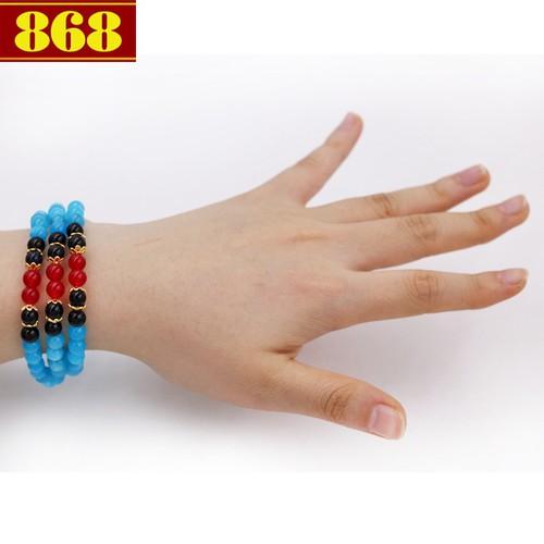 Vòng tay quấn ba đá ngọc tủy VDB1 - 5204224 , 8583717 , 15_8583717 , 210000 , Vong-tay-quan-ba-da-ngoc-tuy-VDB1-15_8583717 , sendo.vn , Vòng tay quấn ba đá ngọc tủy VDB1