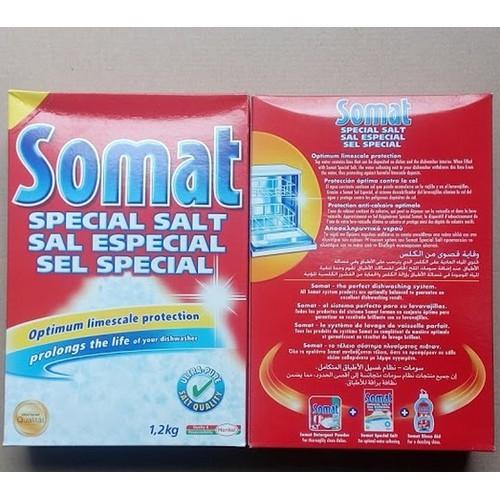 Muối rửa chén - bột rửa bát somat đức 2 hộp 1,2kg