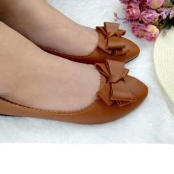 Giày búp bê nơ đơn giản