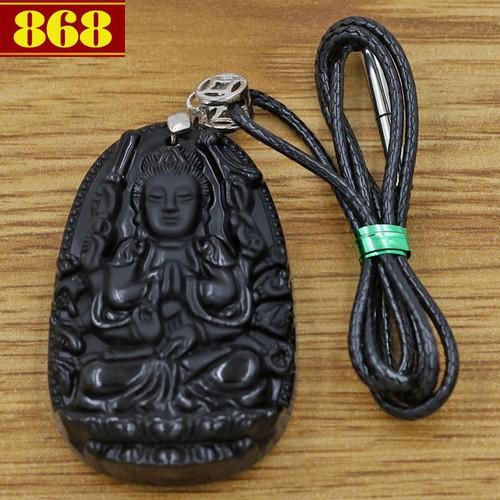 Dây đeo cổ Phật Thiên Thủ Thiên Nhãn 4.3 cm đen