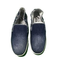 Giày lười nam xỏ ngón vải jean