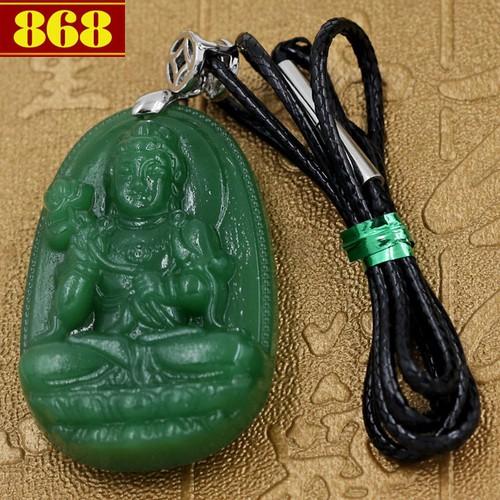 Dây chuyền Phật Đại Thế Chí Bồ Tát 4.3 cm xanh
