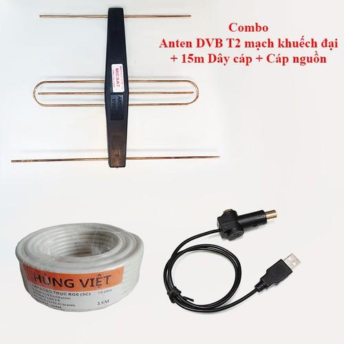 [Flash sale] Combo Anten DVB T2 có mạch khuếch đại