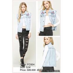 Áo khoác jean nữ Forever 21 Hàng xách tay từ Mỹ