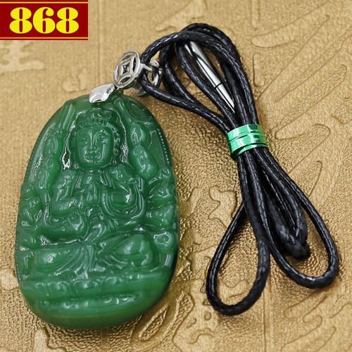 Dây đeo cổ Phật Thiên Thủ Thiên Nhãn 4.3 cm xanh