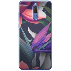 Ốp lưng nhựa dẻo Huawei 2i Hoa tím hồng nghệ thuật