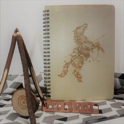 Sổ tay - Sổ bìa gỗ - Dành cho người năm NGỌ - Giấy màu kem - 120 trang