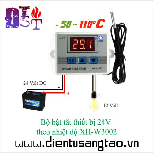 Bộ bật tắt thiết bị 24V theo nhiệt độ XH-W3002