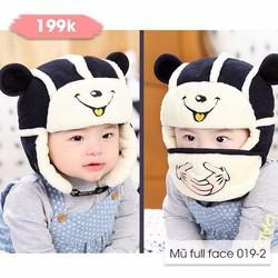 Mũ cho bé kèm khẩu trang siêu dễ thương