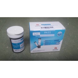 Que thử tiểu đường đường huyết safe accu SINOCARE hộp 50que