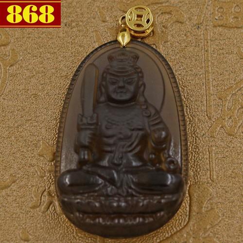 Mặt dây chuyền Phật bản mệnh Bất Động Thiên Vương 5 cm nâu