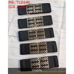 Thắt lưng nữ bản to phối da hình dây xích sang trọng thời trang TLD240
