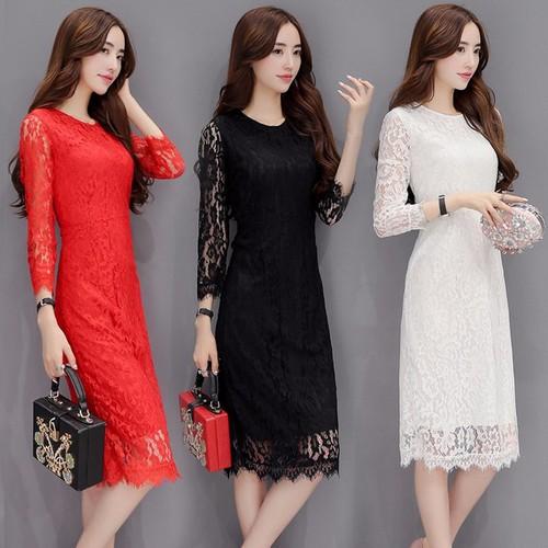 Đầm suông nữ ren tay dài D1125 - 4420196 , 8609655 , 15_8609655 , 299000 , Dam-suong-nu-ren-tay-dai-D1125-15_8609655 , sendo.vn , Đầm suông nữ ren tay dài D1125