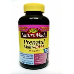 Vitamin khoáng chất DHA tổng hợp cho bà bầu Nature Made Prenatal DHA