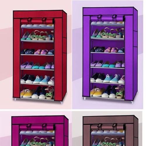 Tủ vải kệ để giày dép 6 tầng đa năng | Tủ kệ vải để giày dép