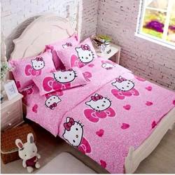 Bộ Drap 4 Món Ga Gối - Đủ Kích thước - Hello Kitty