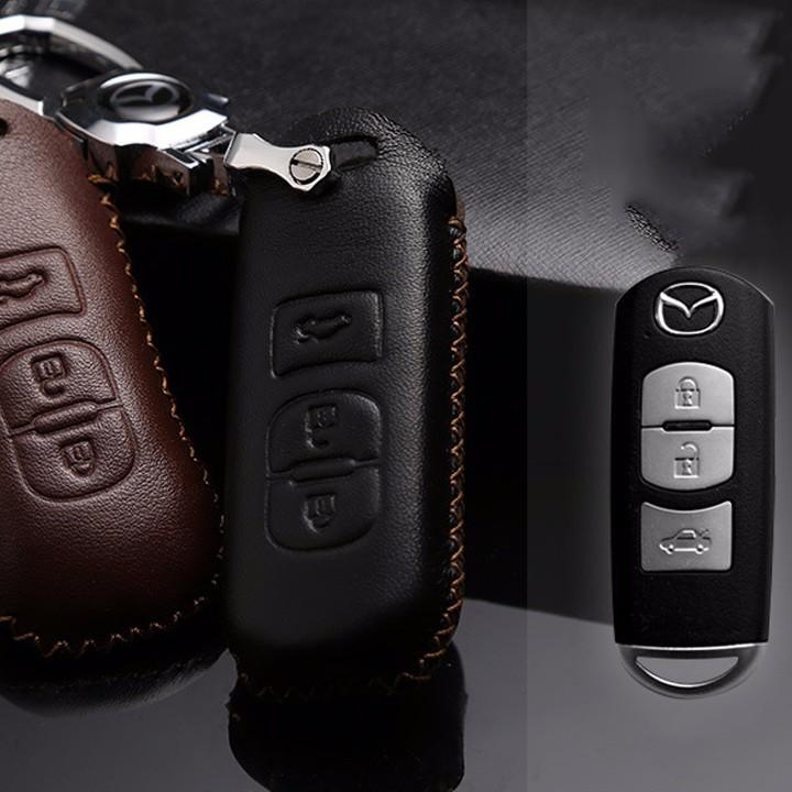 Bao da chìa khóa ô tô MAZDA 3 nút bấm 2